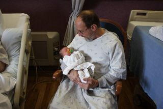 Lily and G-pa Dan
