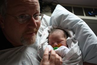 G-pa Randy and Lily
