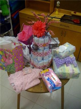 Cake and gifts